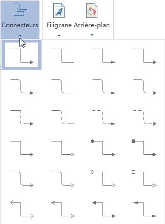 Styles de connecteur