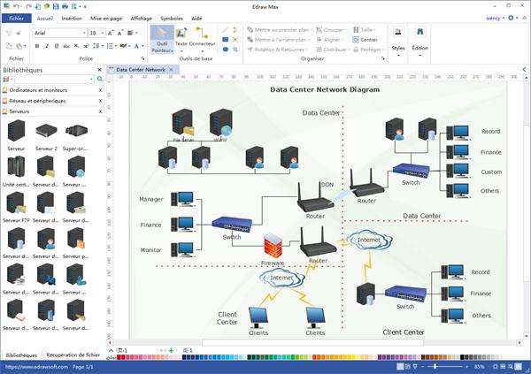 Programme bureautique de diagramme de réseau