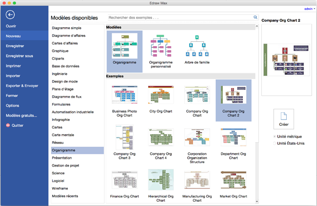 Edraw max logiciel de diagramme comment cr er un organigramme sur mac - Diagramme sur open office ...