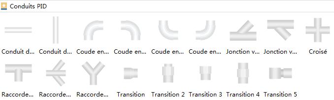Symboles de tuyauterie