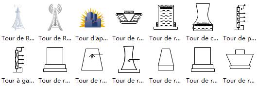 Autres symboles de tour de schéma P&ID