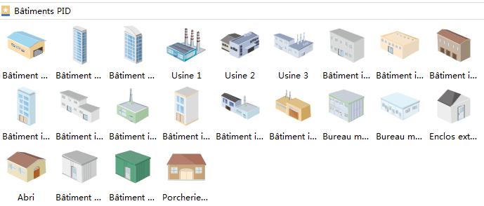 Symboles de bâtiment pour le schéma P&ID