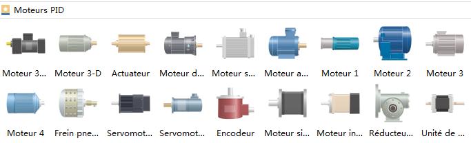 Symboles de moteur de schéma P&ID