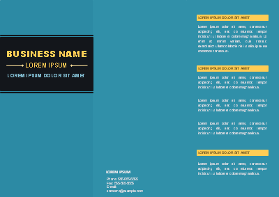 Modèle de brochure à trois volets - Business