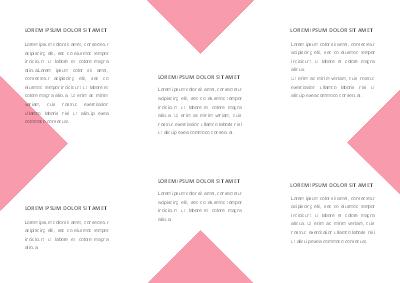 Modèle gratuit de brochure à trois volets