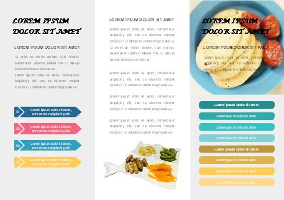 modèle de dépliant - menu