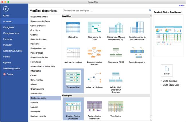 logiciel de dessin de gestion de projet pour Mac