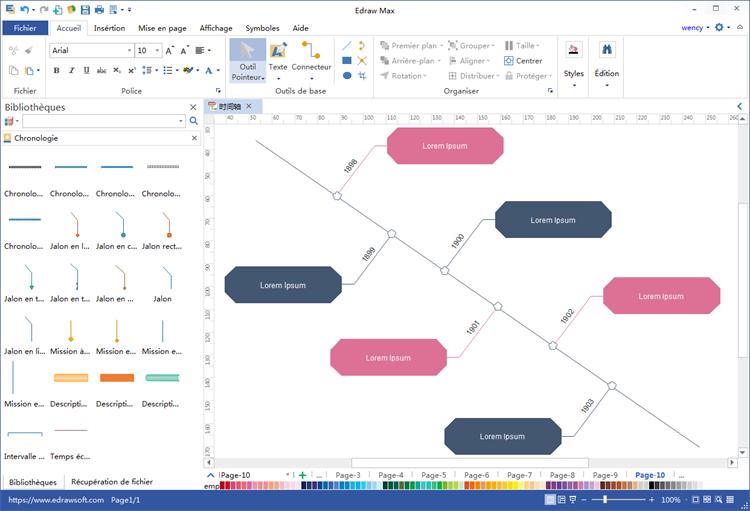 logiciel de création de chronologie
