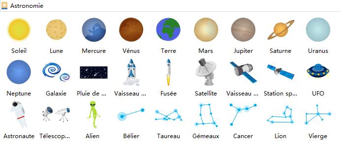 symboles d'astronomie