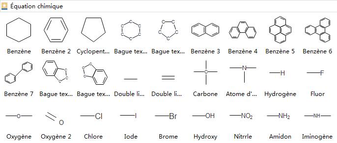 Symbole d'équation chimique