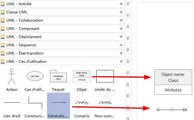 Ajouter des formes de diagramme UML