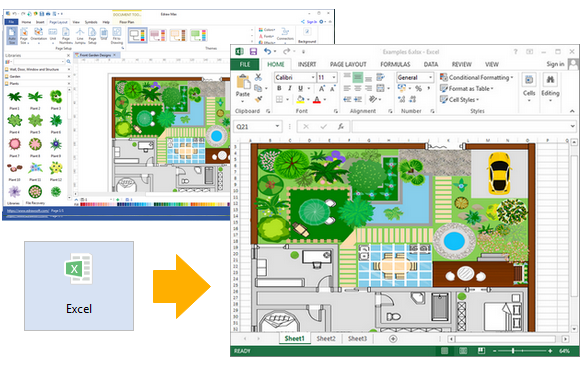 Export Garden Design to Excel