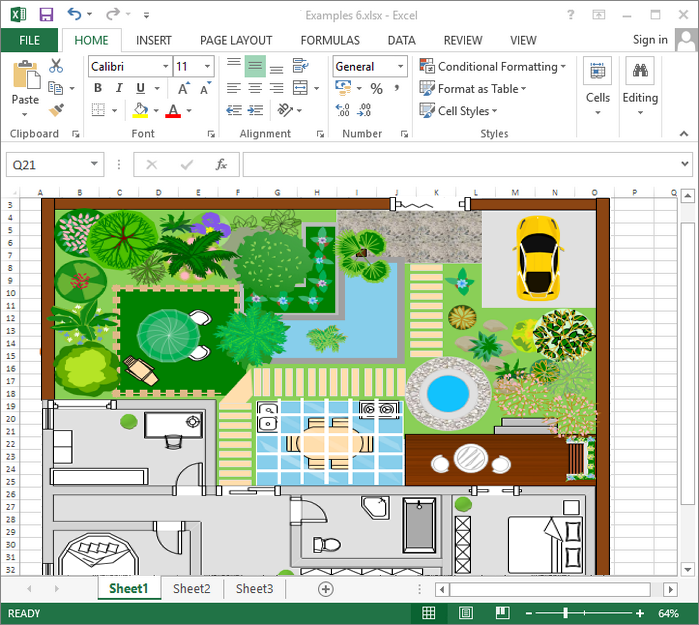 Create Garden Design for Excel