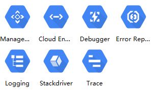 gcp management tools icons