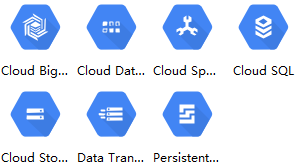 gcp storage and databases icons