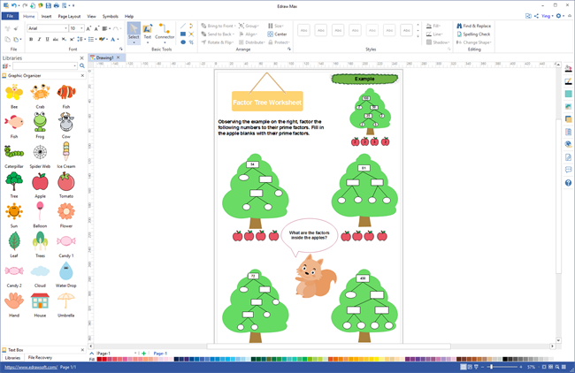 Factor Tree Worksheet Maker