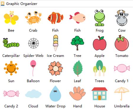 Simboli di organizzatore grafico