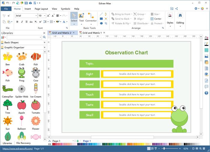 Grid and Matrix Graphic Organizer Maker