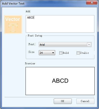 Add Vector Text