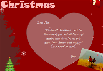 Christmas Card Customize
