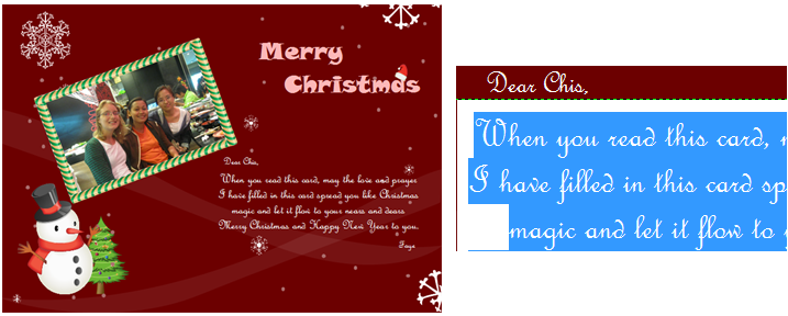 Easy to use christmas card maker and editor christmas cards photo m4hsunfo