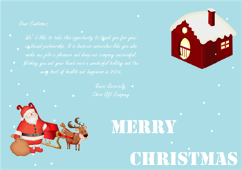 Free Customizable Business Christmas Cards