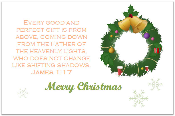 Bible Verse Christmas Card