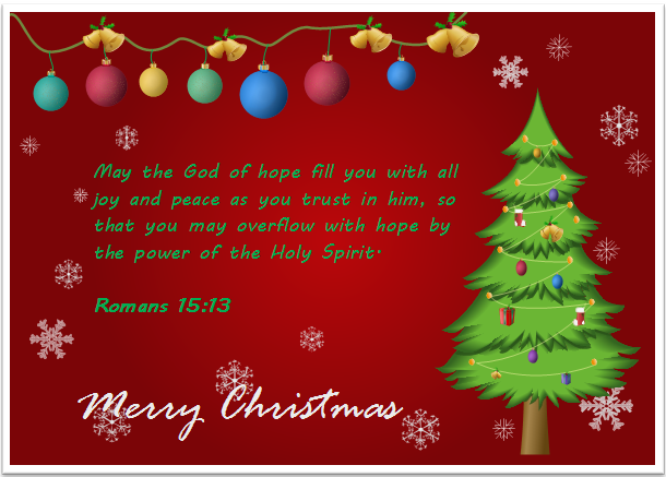 Etonnant Christmas Card Bible Quote