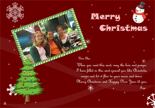 Christmas Card Example