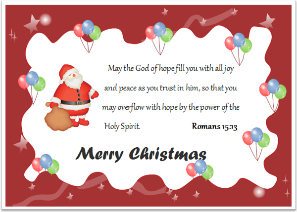 8 Christmas Card with Bible Verses Free Download – Words for Christmas Card