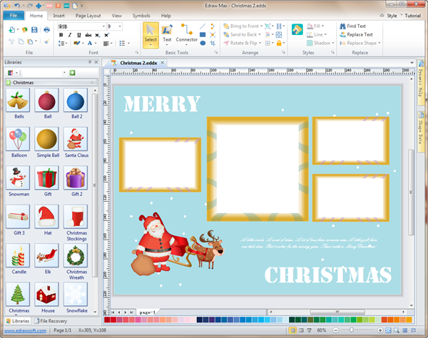 Personalized Christmas Photo Card Software