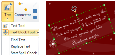 Christmas Card Text Block Tool