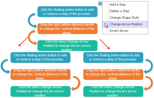 Change Arrow osition
