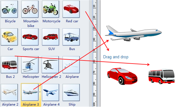 drag and drop vehicle clip art