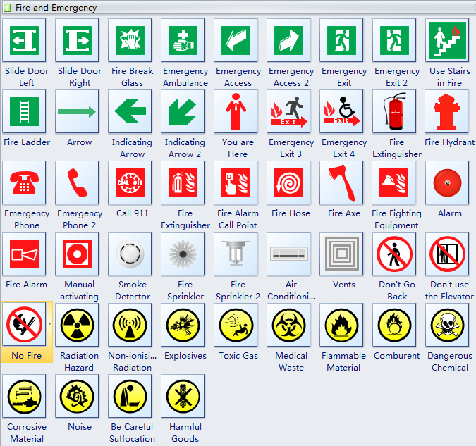 Use Free and Editable Symbols to Design Emergency/Safety Signs