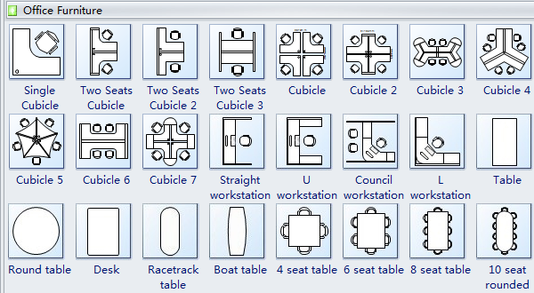 Simple office planning software make great looking for Office furniture layout planner