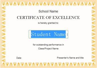 Certificate Customize