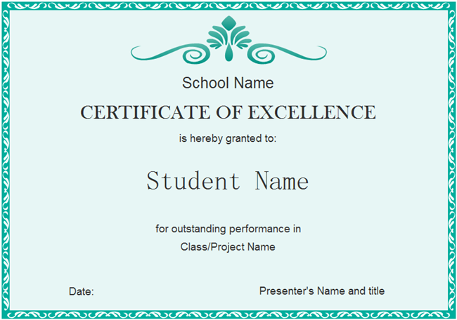 How to create good looking certificate