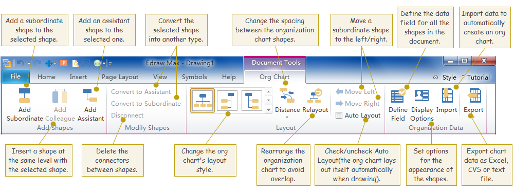 mind map and org chart tools
