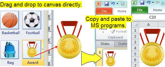 Scool Clipart for Word, PowerPoint and Excel