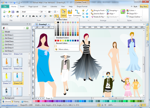 Fashion design software edraw max makes fashion design Free sketching online