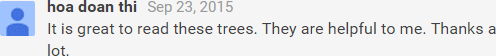 Comment on Tree Chart