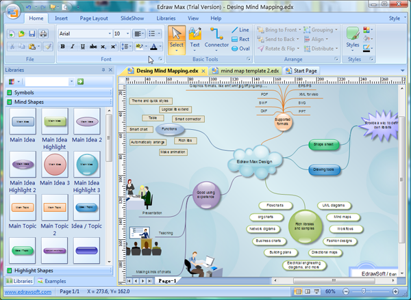Line Drawing Software Free Download : Free mind map software edraw freeware