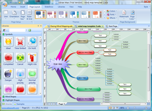 Mind Mapping Software Interface