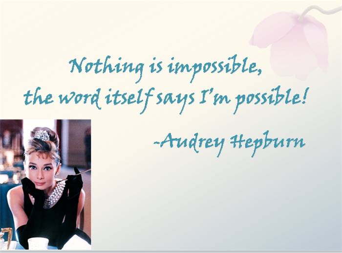 Quote from Audrey Hepburn