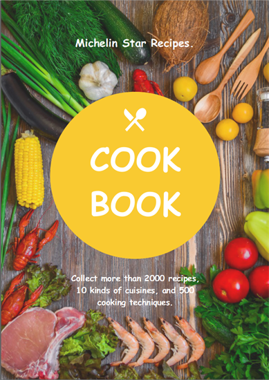 cooking book cover template