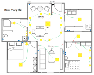 home wiring plan300 electrical and telecom plan floor plan solutions residential electrical wiring diagram example at gsmx.co