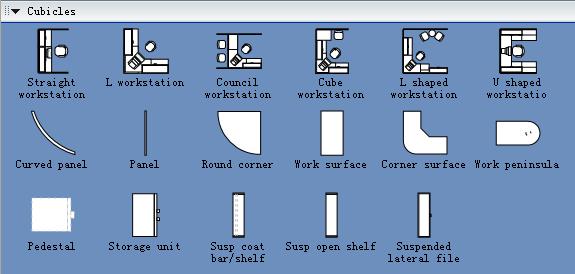 Cubicles Symbols For Building Plan