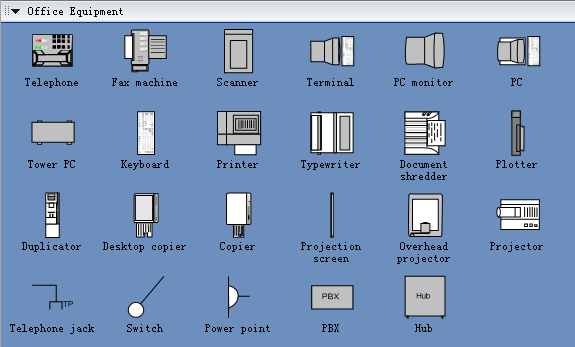Symbols for Building Plan - Office Equipment