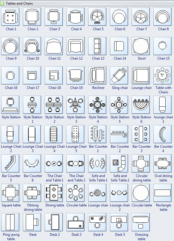 Furniture Symbols For Floor PlansSymbolsHome Plans Ideas